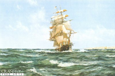 Up Channel - the Lahloo by Montague Dawson.