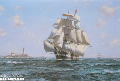 DHM909.  McKay Clipper Anglo-American by Roy Cross. <b><p>Open edition print. <p> Image size 30 inches x 20 inches (76cm x 51cm)