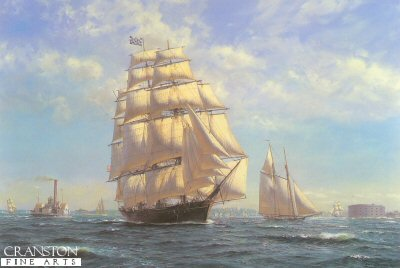 Challenge Leaving New York in the 1850s by Roy Cross.
