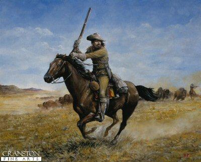 William F Cody (Buffalo Bill) by Brian Palmer. (P)
