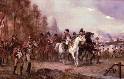 DHM940.  Napoleon at the Battle of Borodino by Robert Hillingford. <b><p>Open edition print.  <p>Image size 25 inches x 15 inches (64cm x 38cm)