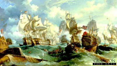 The Battle of Trafalgar by William Stuart.