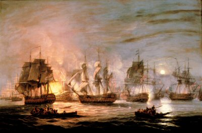 The Battle of the Nile by Thomas Luny.