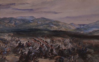 Charge of the Heavy Brigade by Orlando Norie.