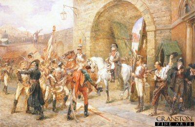 An Incident During the Peninsula War by Robert Hillingford.