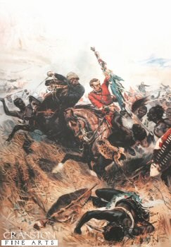 Saving the Queens Colours at the Battle of Isandhlwana by Alphonse De Neuville (B)