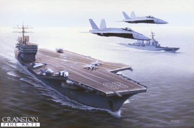 USS Dwight Eisenhower by Ivan Berryman.