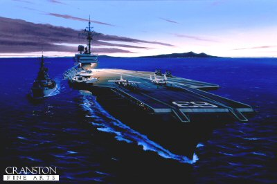 USS Kitty Hawk by Ivan Berryman.