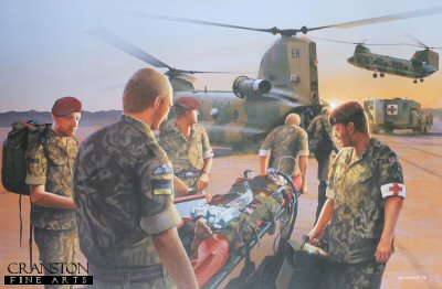 Dawn Casevac, 16 Close Support Medical Regiment - Iraq 2003 by Ivan Berryman. (GL)
