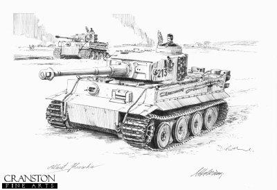 Mutual Support, Narva Bridgehead, Northern Russia, 6th April 1944 by David Pentland. (P)
