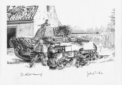 Holding Hosszupaly, Hungary, 17th October 1944 by David Pentland. (P)
