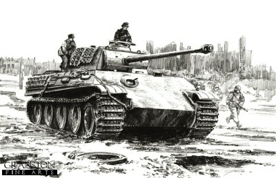 Panther on the loose, Berlin, 2nd May 1945 by David Pentland.