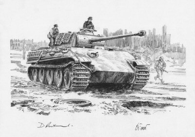 Panther on the loose, Berlin, 2nd May 1945 by David Pentland. (P)