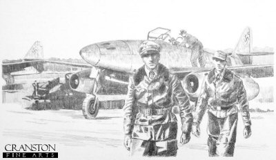 Squadron Leader Schuck, Germany, Spring 1945 by David Pentland.