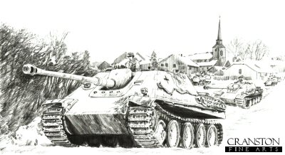 Jagdpanthers in the Ardennes, Ardennes Forest, Germany, December 1944 by David Pentland.