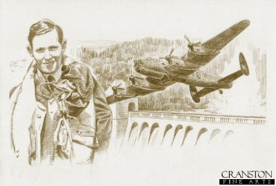 Tribute to the 617 Sqn Dambusters Crew of Lancaster AJ-N by David Pentland.