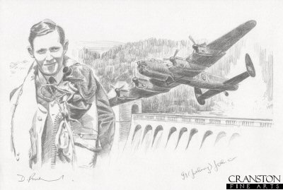 Tribute to the 617 Sqn Dambusters Crew of Lancaster AJ-N by David Pentland. (P)