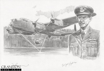 Tribute to the 617 Sqn Dambusters Crew of Lancaster AJ-P by David Pentland. (P)