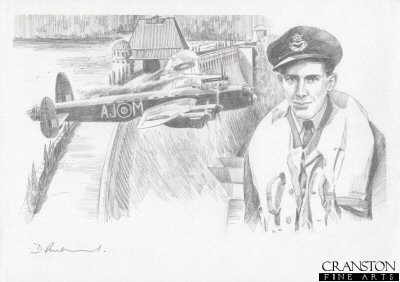 Tribute to the 617 Sqn Dambusters Crew of Lancaster AJ-M by David Pentland.