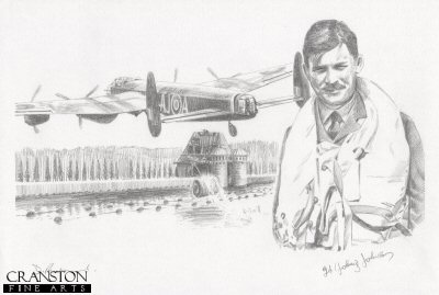 Tribute to the 617 Sqn Dambusters Crew of Lancaster AJ-A by David Pentland. (P)