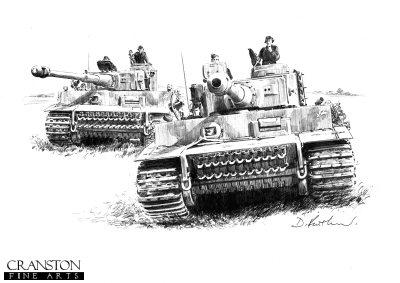 Tigers - 505th at Kursk by David Pentland.