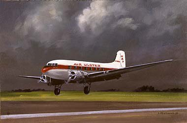 Air Ulster DC3 Dakota, 1960s by David Pentland.