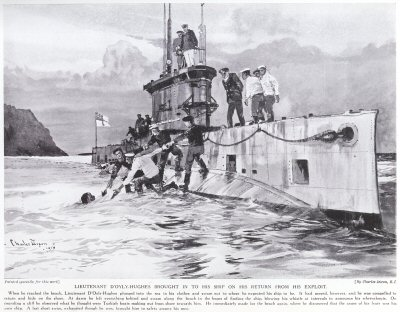 Lieutenant DOyly-Hughes Brought In To His Ship On His Return From His Exploit.