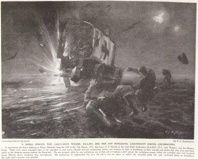 A Shell Struck The Ambulance Wagon, Killing One Man And Rendering Lieutenant Hincks Unconscious.