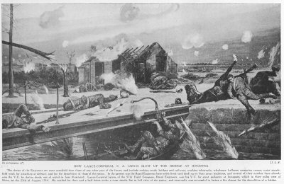 How Lance Corporal C. A. Jarvis Blew Up The Bridge At Jemappes.