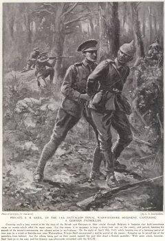 Private B. R. Sheil, Of The 1/8th Battalion Royal Warwickshire Regiment, Capturing A German Patroller.