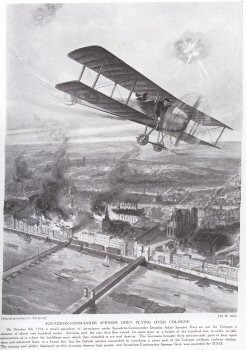Squadron-Commander Spenser Grey Flying Over Cologne.