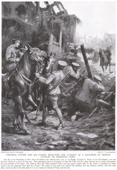 Corporal Potter and his Patrol Defeating the Attempt of a Squadron of German Cavalry to Surround Them..