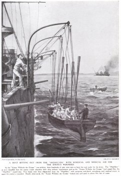 A Boat Setting Out From HMS Highflyer with Surgical And Medical Aid For The Enemys Wounded