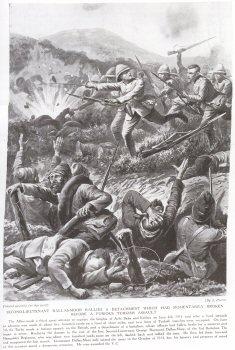 Second Lieutenant Dallas-Moor Rallies A Detachment Which Had Momentarily Broken Before A Furious Turkish Assault.