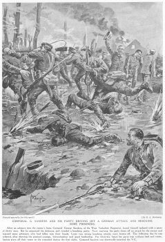 Corporal G. Sanders And His Party Driving Off A German Attack And Rescuing Some Prisoners.