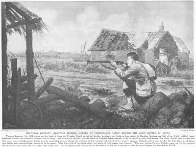 Corporal Redpath Shooting German Snipers At Point Blank Range During The First Battle Of Ypres.