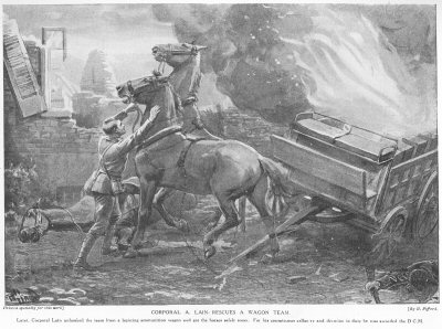 Corporal A. Lain Rescues A Wagon Team.