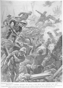 Sergeant R. Downie Attacks And Kills A Gun Team, And Captures The Gun.