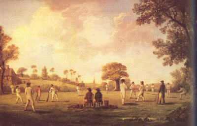 A Game of Cricket, 1790 by Anon.