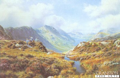 FAR0632. Picnic at Buttermere by Rex Preston. <p><p><b>Less than 85 copies of this edition available - sold out at the publisher.</b><b><p>Open edition prints.�<p> Size 24 inches x 16 inches (61cm x 41cm)