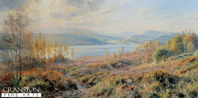 FAR0943. Loch Garry by Rex Preston. <p> <p><b>Less than 200 copies of this edition available - sold out at the publisher.</b><b><p>Open edition prints.<p> Size 30 inches x 15 inches (76cm x 38cm)