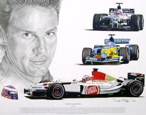 Tribute to Jenson Button by Stuart McIntyre.