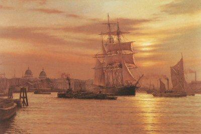Greenwich Reach 1887 by Rodney Charman.