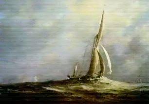 Suffolk Bound Off The Essex Coast by Christine Slade
