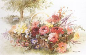 Basket of Flower by Andrea Mosaminn-Grass