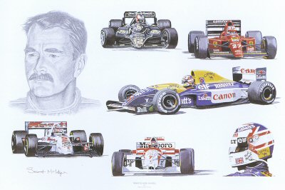 Tribute to Nigel Mansell by Stuart McIntyre.