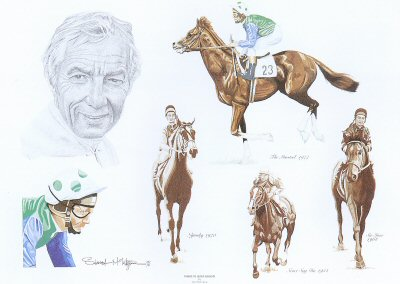 Tribute to Lester Piggott by Stuart McIntyre.