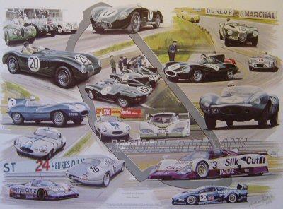 Jaguar at Le Mans by Graham Bosworth.