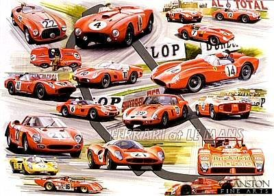 Ferrari at Le Mans by Graham Bosworth.