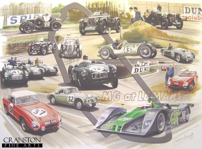 MG at Le Mans by Graham Bosworth.